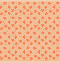 orange tones stars seamless pattern vector image vector image