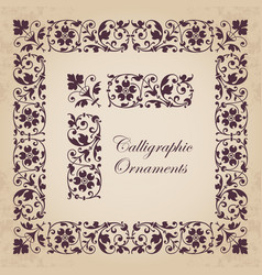 Ornamental corners borders and frames vector