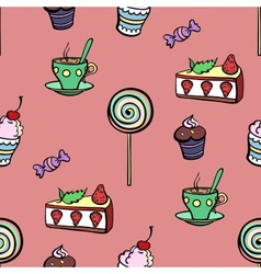 Red Sweet Pattern vector image vector image