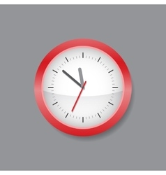 Red wall clock vector image vector image