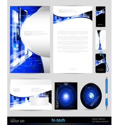 template business set Design elements vector image vector image