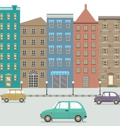 Three type of cars in the city vector
