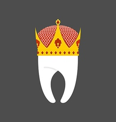 Tooth Crown White pure Royal logo for dent vector image vector image