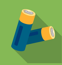 Used batteries icon in flate style isolated on vector
