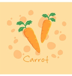 Vegetable Carrot vector image