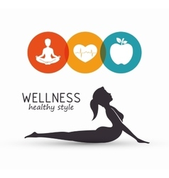 Wellness healthy style design vector