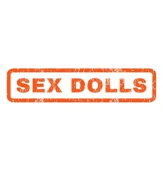 Sex dolls rubber stamp vector