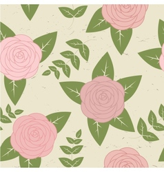 Cute vintage seamless pattern with roses vector