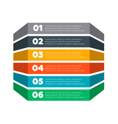 Infographics elements six steps process vector