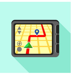 Navigator icon flat style vector