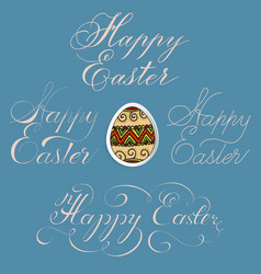 Hand drawn lettering happy easter in vector