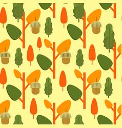 Autumn foliage concept seamless pattern vector