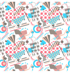Abstract geometric seamless pattern in bright vector