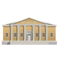 Big building with columns in simple cartoon style vector