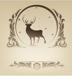 Christmas standing raindeer background rich vector