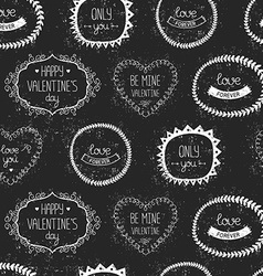 Love vintage background with retro valentines vector image