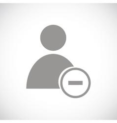 Remove user black icon vector image