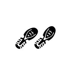 Shoes footprints vector