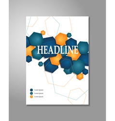 Brochure design - hexagon vector