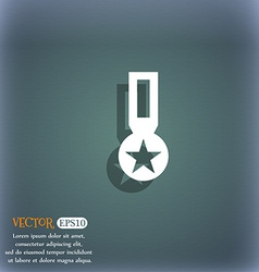 Award medal of honor icon sign on the blue-green vector