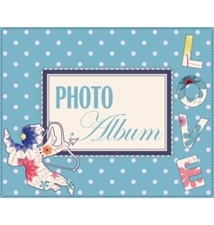 Family weddng album cover vintage vector image
