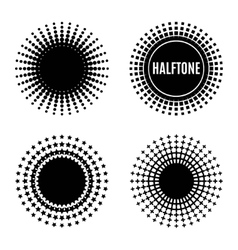 Set halftone isolation element design vector