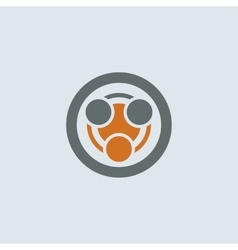 Gray-orange Infection Round Icon vector image