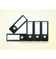 Office folders binder vector