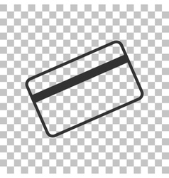 Credit card symbol for download dark gray icon on vector