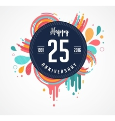 Anniversary - abstract background with icons vector