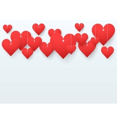 Background beautiful red heart vector image