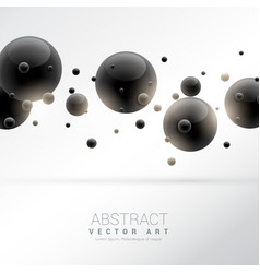 Background with black molecules particles vector