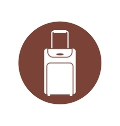 Baggage suitcase travel brown circle vector