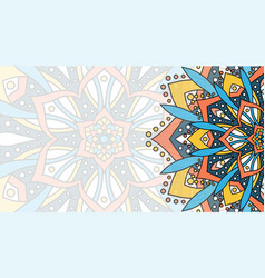 Banner with round abstract ornament vector