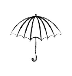 blurred thick silhouette of opened stripe umbrella vector image vector image