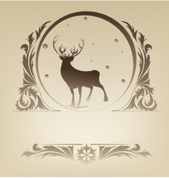 Christmas standing raindeer background rich vector