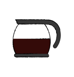 Coffee glass kettle vector