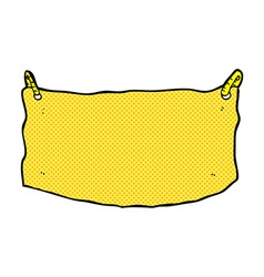 Comic cartoon cloth banner vector
