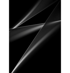 Dark abstract monochrome smooth lines background vector