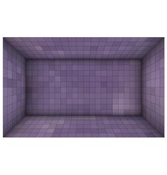 Empty futuristic room with purple mosaic walls vector