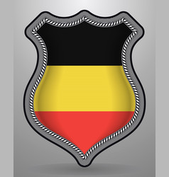 Flag of belgium badge and icon vector