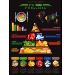 Food pyramid infographics vector