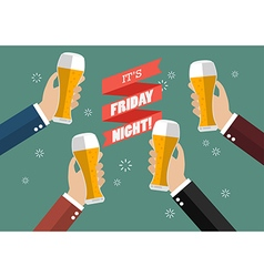 Friday night party celebration vector
