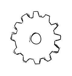 Gear machinery drawing vector
