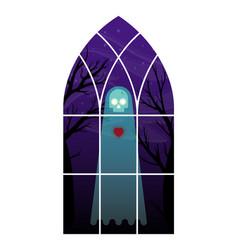 ghost in window vector image vector image