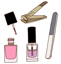 Nail care and polish vector