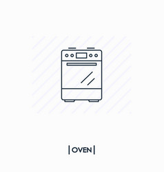 oven outline icon isolated vector image vector image
