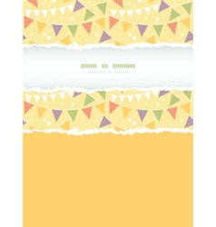Party Decorations Bunting Vertical Torn Frame vector image vector image