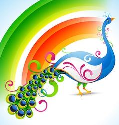 peacock design vector image