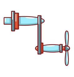 Rotary handle icon cartoon style vector
